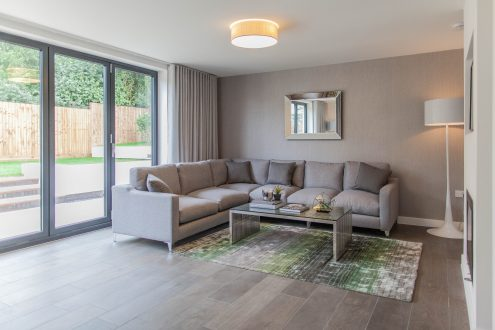 Living room - Llangrove development, MF Freeman