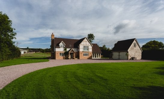 Traditional country house built with timber frame