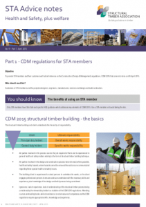 CDM Regs (STA: Advice Note 9.1 - 04/2015)