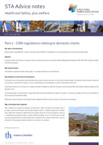 CDM Regs Domestic Clients (STA: Advice Note 9.2 - 05/2016)