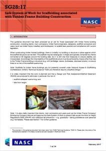 Safe System of Work for Scaffolding
